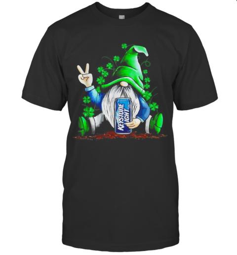 Shamrock Gnome hug Keystone Light shirt T-Shirt