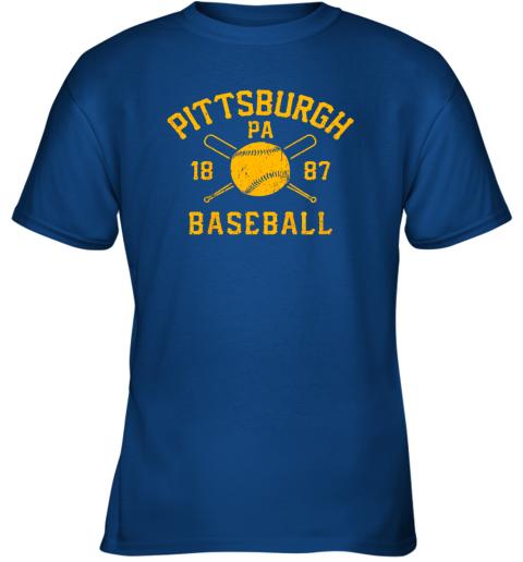 otbz vintage pittsburgh baseball pennsylvania pirate retro gift youth t shirt 26 front royal