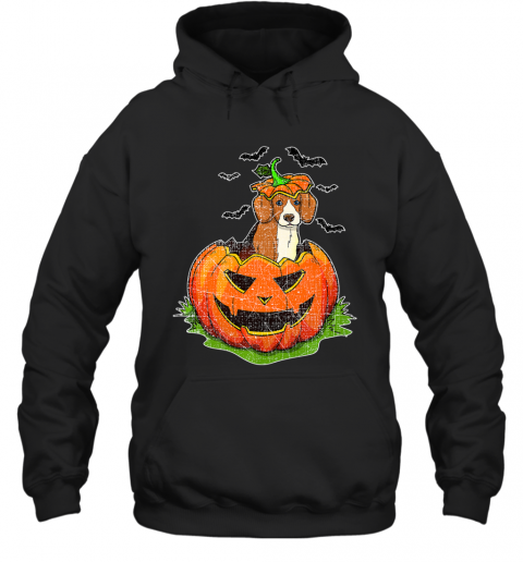 Cute Halloween Beagle Dog Lovers Pumpkin Jack O Lantern Kids Premium Hoodie