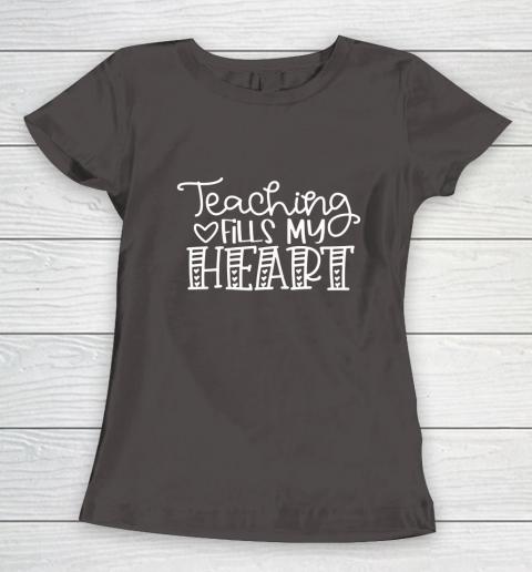 Teaching Fills My Heart Valentine Cute Love Teacher Student Women's T-Shirt 7
