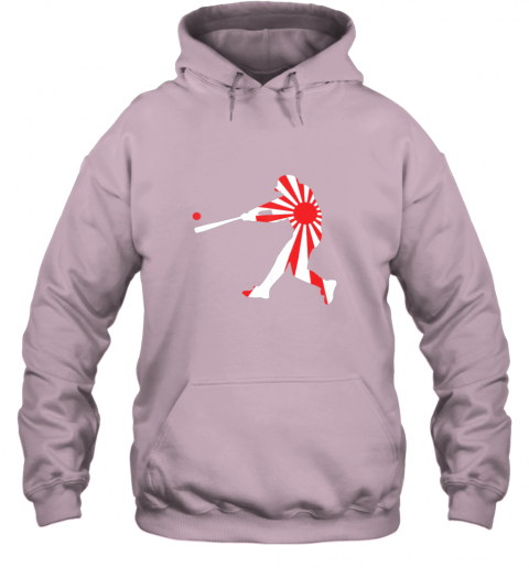xlvo japan baseball shirt jpn batter classic nippon flag jersey hoodie 23 front light pink