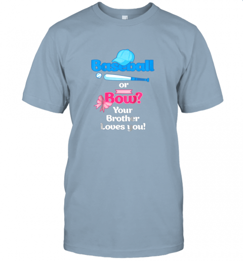 rjnw kids baseball or bows gender reveal shirt your brother loves you jersey t shirt 60 front light blue