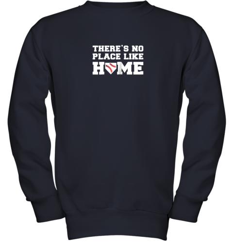 u32n there39 s no place like home baseball shirt kids baseball tee youth sweatshirt 47 front navy