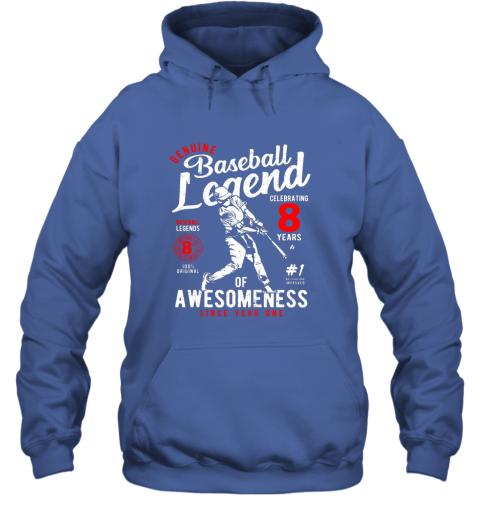 xu1r kids 8th birthday gift baseball legend 8 years hoodie 23 front royal
