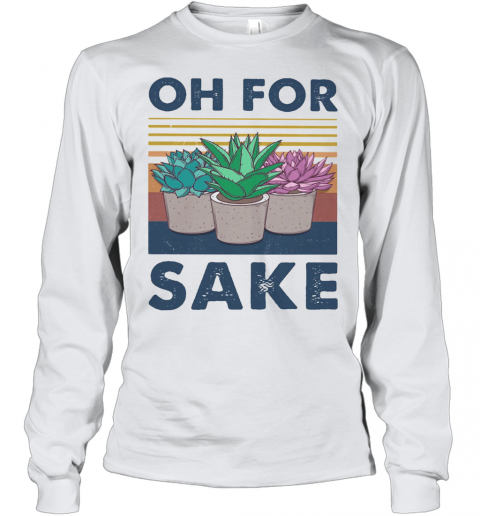 Cactus Oh For Sake Vintage Retro Youth Long Sleeve