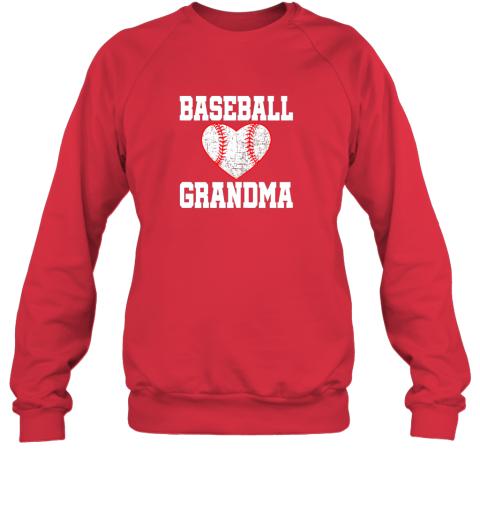 sya6 vintage baseball grandma funny gift sweatshirt 35 front red