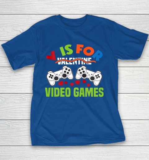 Funny Video Games Lover Valentine Day Youth T-Shirt 6