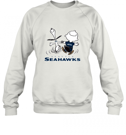 Snoopy And Charlie Brown Happy Seattle Seahawks Fans Sweatshirt