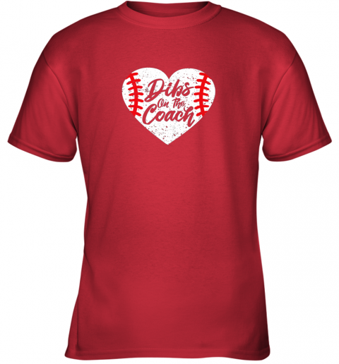 hwzx dibs on the coach funny baseball youth t shirt 26 front red