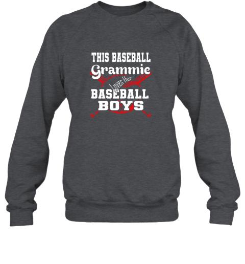 91nx this baseball grammie loves her baseball boys sweatshirt 35 front dark heather