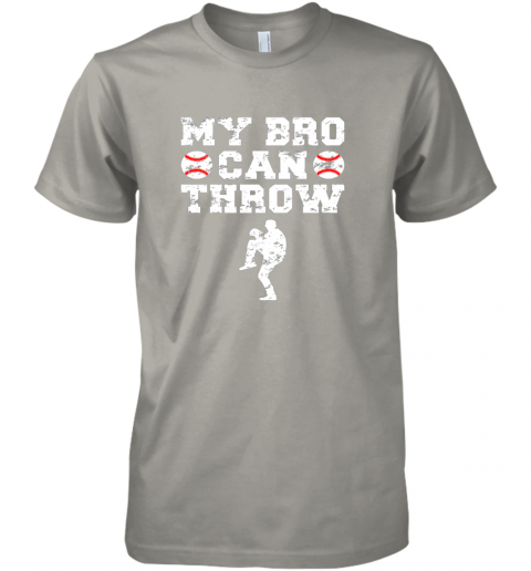 w8jn kids cute baseball brother sister funny shirt cool gift pitcher premium guys tee 5 front light grey