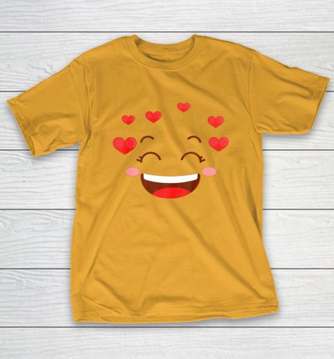Kids Girls Valentine T Shirt Many Hearts Emoji Design T-Shirt 2