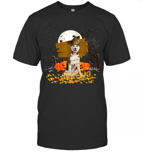 My Siberian Husky Pumpkins Halloween Dog Gift T-Shirt