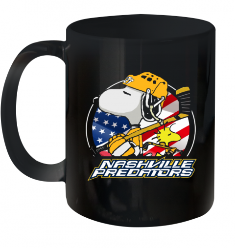 Nashville Predators  Snoopy And Woodstock NHL Ceramic Mug 11oz