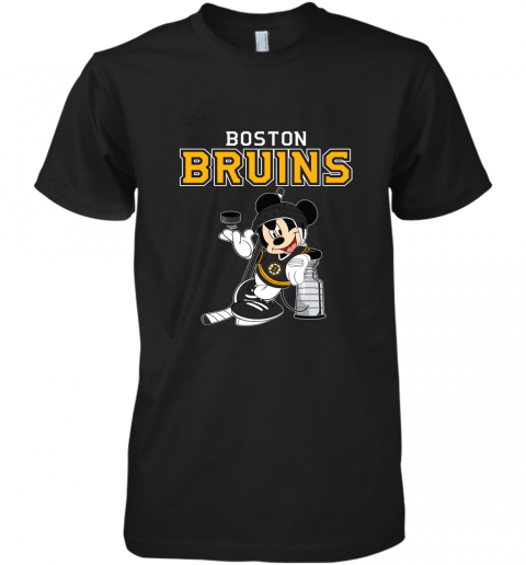 Mickey Boston Bruins With The Stanley Cup Hockey NHL Premium Men's T-Shirt