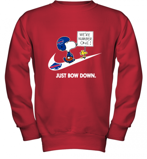 Buffalo Bills Are Number One – Just Bow Down Snoopy Youth Sweatshirt