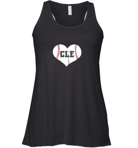 Cleveland Ohio Baseball Love Heart CLE Gift Jersey Fan Racerback Tank