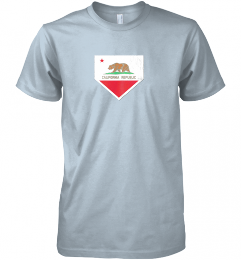 irmy vintage baseball home plate with california state flag premium guys tee 5 front light blue