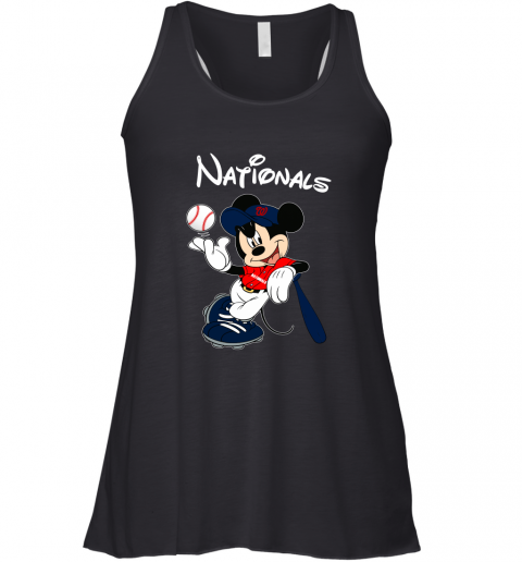 Baseball Mickey Team Washington Nationals Racerback Tank