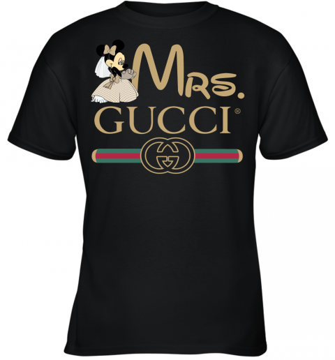 Gucci Disney Mrs Minnie Couple Valentine's Day Gift Youth T-Shirt