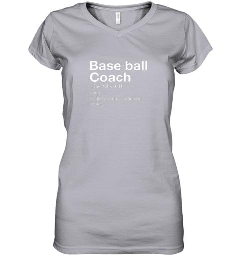 45om coach baseball shirt team coaching women v neck t shirt 39 front sport grey