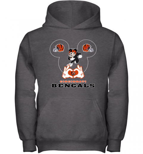 qyyq i love the bengals mickey mouse cincinnati bengals youth hoodie 43 front dark heather