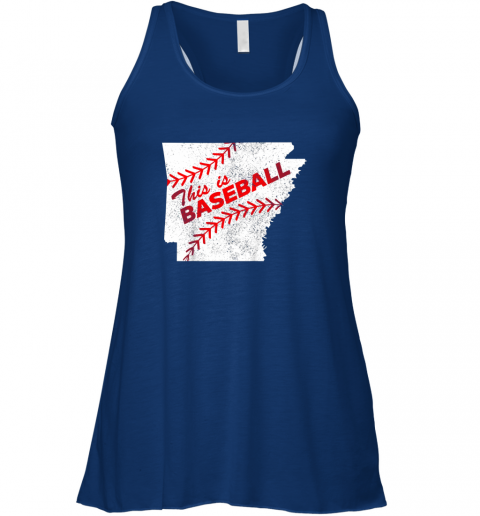 gghm this is baseball arkansas with red laces flowy tank 32 front true royal