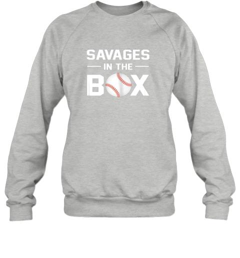 fyfz savages in the box shirt baseball gift sweatshirt 35 front sport grey