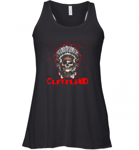 Cleveland Hometown Indian Tribe Vintage Baseball Fan Awesome Racerback Tank
