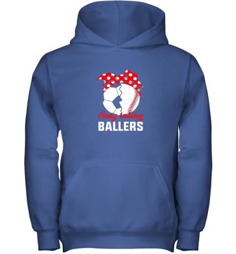 cwlg busy raising a ballerfunny baseball soccer mom youth hoodie 43 front royal