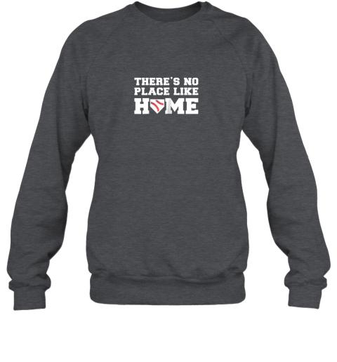 iyrn there39 s no place like home baseball shirt kids baseball tee sweatshirt 35 front dark heather