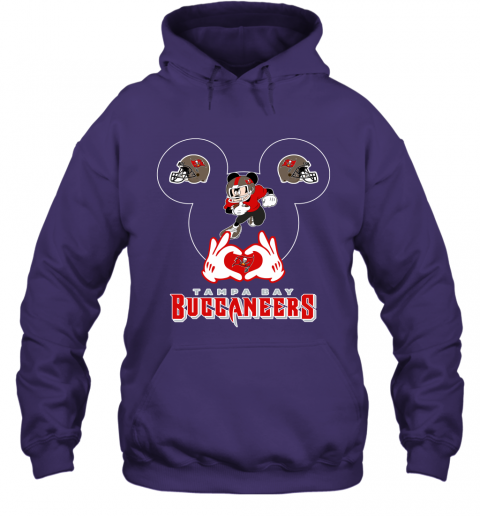 mg4g i love the buccaneers mickey mouse tampa bay buccaneers s hoodie 23 front purple