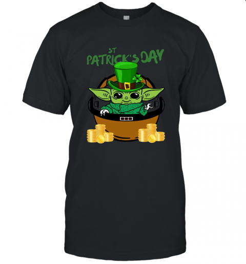 akfo baby yoda st patricks day outfit jersey t shirt 60 front black