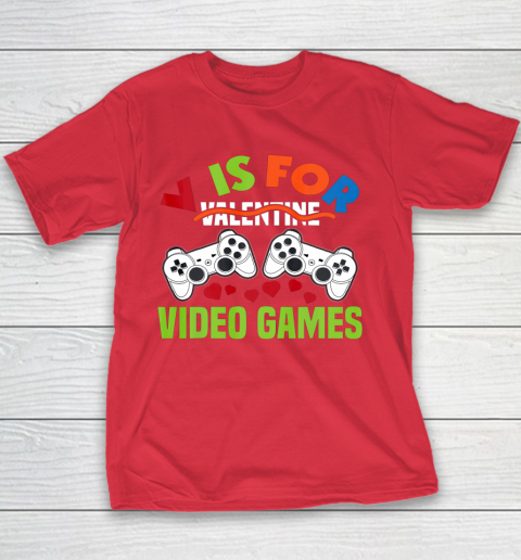 Funny Video Games Lover Valentine Day Youth T-Shirt 7