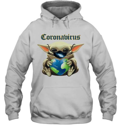 Baby Yoda Mask Heart Earth Coronavirus Hoodie