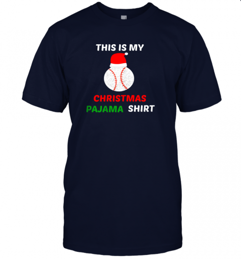 cko2 this is my christmas pajama shirtgift for baseball lover jersey t shirt 60 front navy