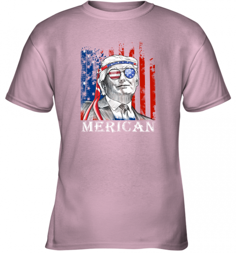 zpks merica donald trump 4th of july american flag shirts youth t shirt 26 front light pink