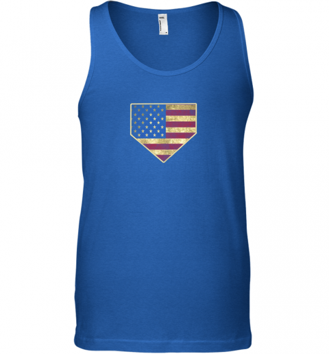 0dou vintage american flag baseball shirt home plate art gift unisex tank 17 front royal