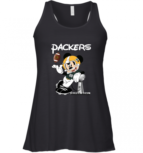 Mickey Packers Taking The Super Bowl Trophy Football Racerback Tank