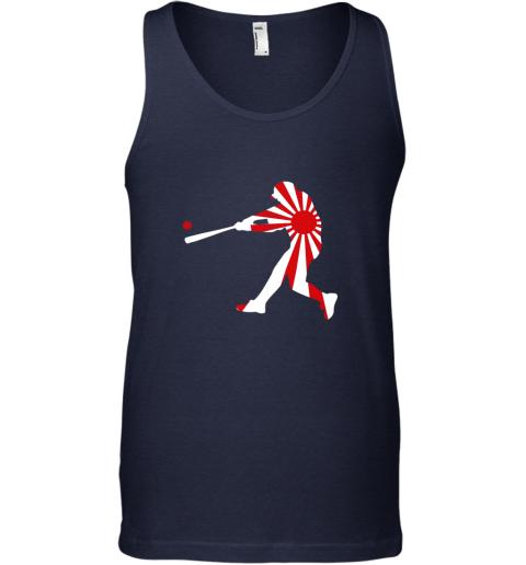 slqe japan baseball shirt jpn batter classic nippon flag jersey unisex tank 17 front navy