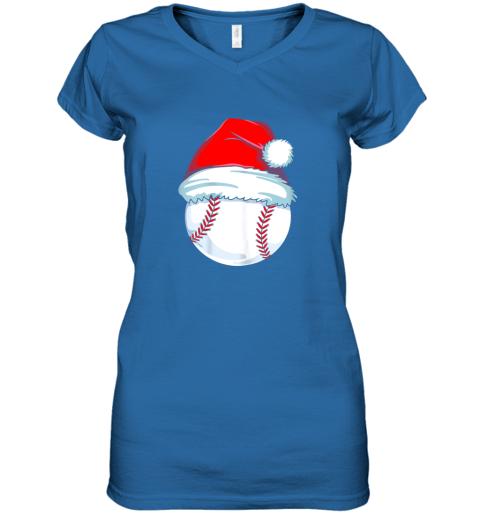 olng christmas baseball shirt for kids men ball santa pajama women v neck t shirt 39 front royal