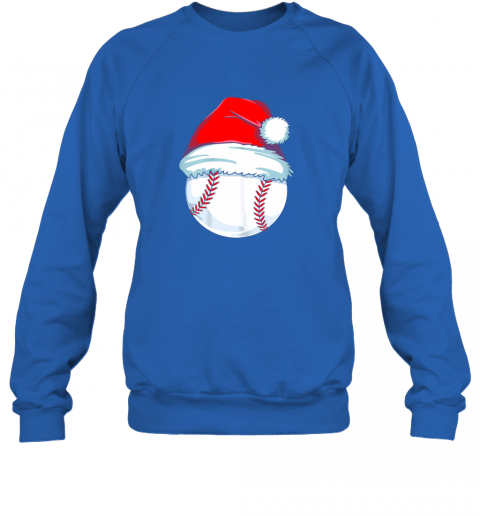 qm12 christmas baseball shirt for kids men ball santa pajama sweatshirt 35 front royal