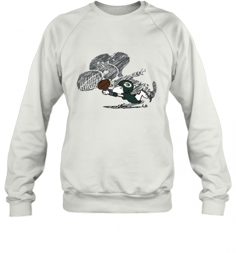 Green Bay Packers Snoopy Plays The Football Game Sweatshirt
