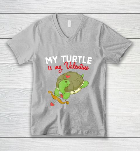 Turtle Valentine T Shirt Sea Turtle Cupid Valentines Day V-Neck T-Shirt 3