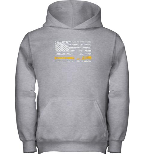 sbqi softball catcher shirts baseball catcher american flag youth hoodie 43 front sport grey