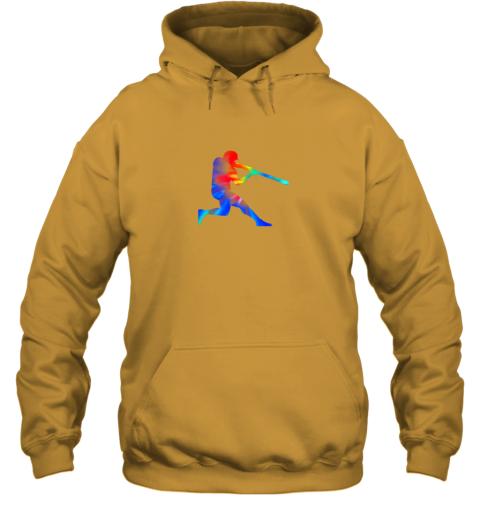 5v8l tie dye baseball batter shirt retro player coach boys gifts hoodie 23 front gold