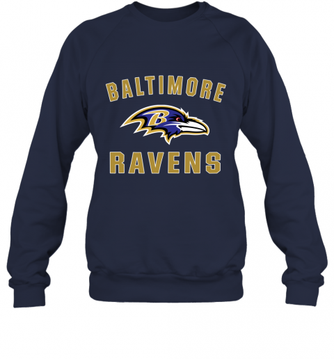 403m mens baltimore ravens nfl pro line by fanatics branded gray victory arch t shirt sweatshirt 35 front navy