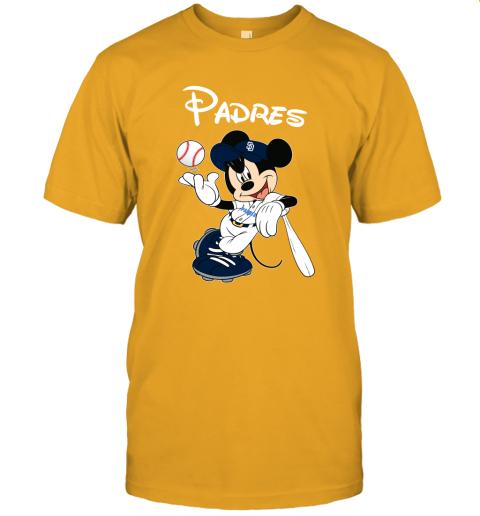 1qaa baseball mickey team san diego padres jersey t shirt 60 front gold