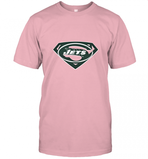 if87 we are undefeatable the new york jets x superman nfl jersey t shirt 60 front pink