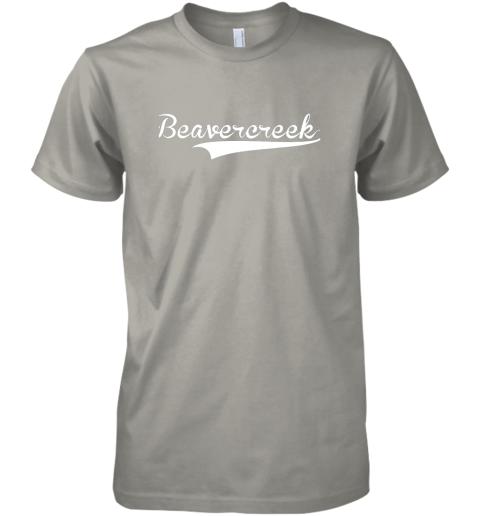 yphv beavercreek baseball styled jersey shirt softball premium guys tee 5 front light grey